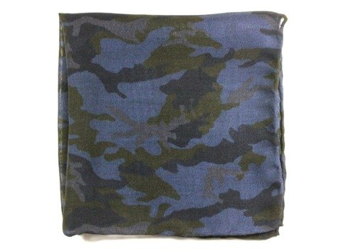 camouflage wool & silk  pocket square