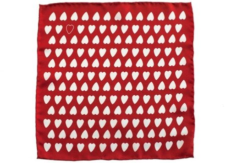 charitable pocket square angel's hearts