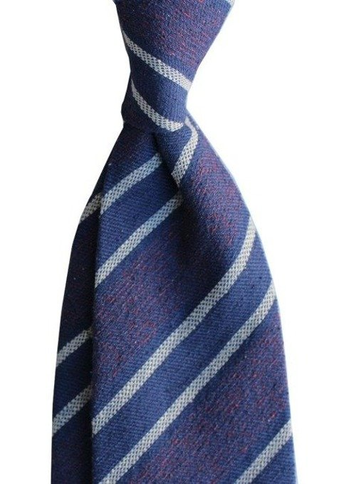 raw silk untipped tie