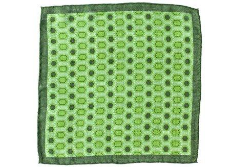 wool & silk medallion pocket square