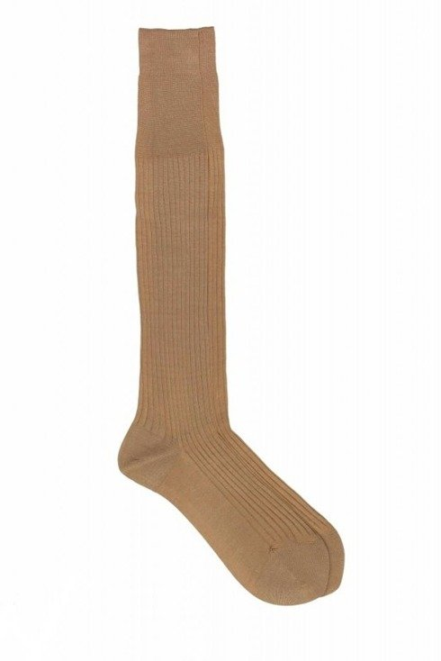 100% Mercerized Cotton Rib knee High Socks - Fil D`Écosse