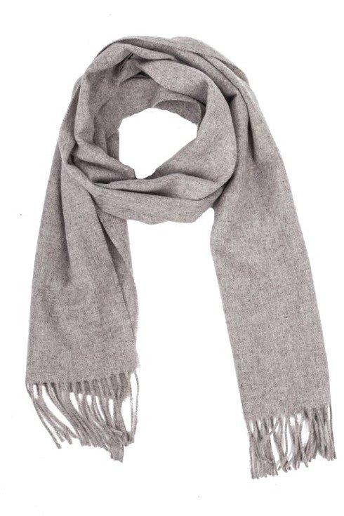 BEIGE woolen classic scarf
