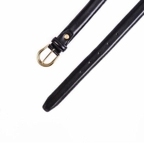 """Black leather belt """"Ruler"""""""