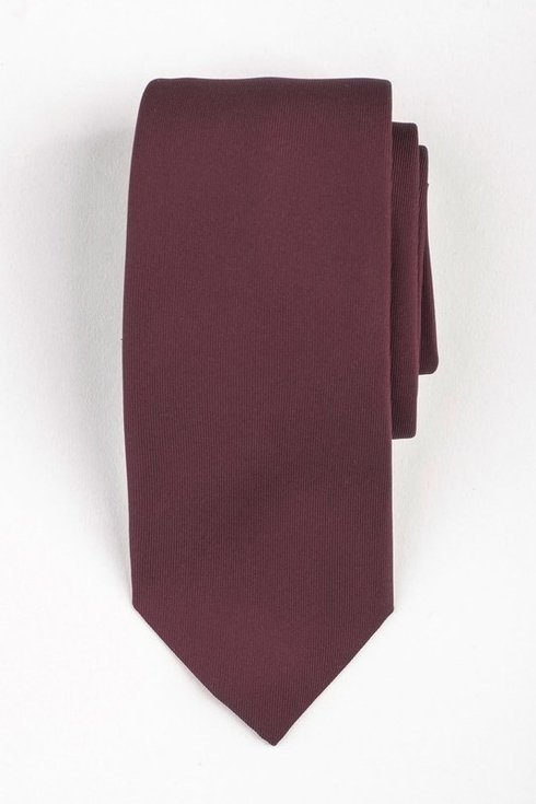Burgundy six fold Macclesgield silk tie