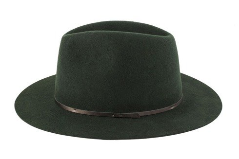 Dark green woolen hat
