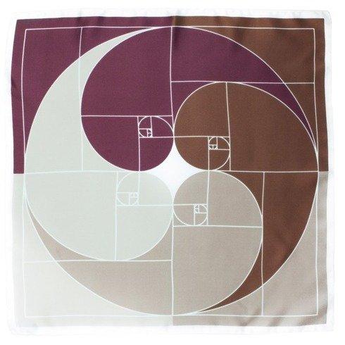 'Fibonacci Sequence' Silk scarf 45 cm