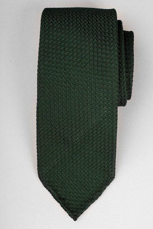 Green grenadine untipped tie