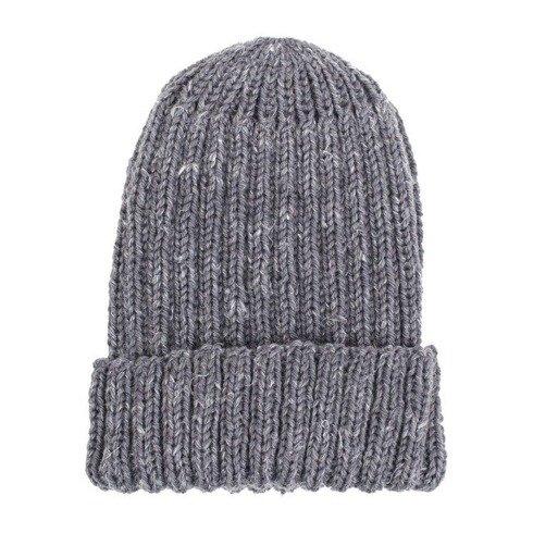 Hand-knit gray beanie