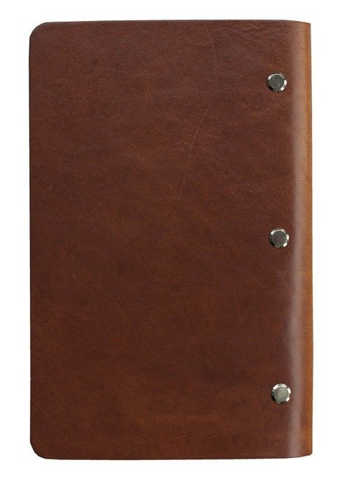 LEATHER cognac Notebook with refill