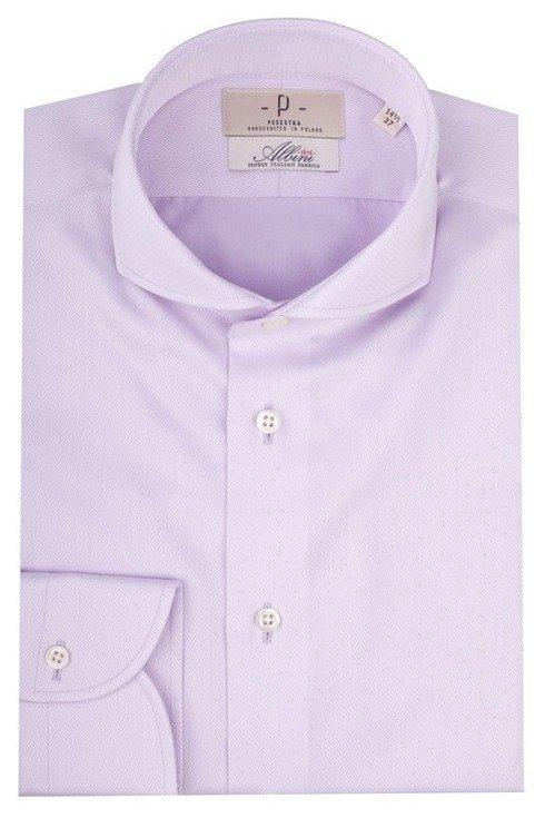 Light violet cutaway collar shirt Albini