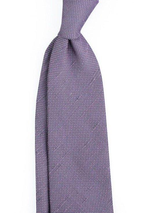 Linen grenadine untipped tie