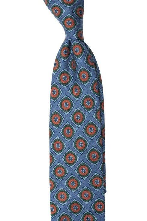 Macclesfield tie sea blue