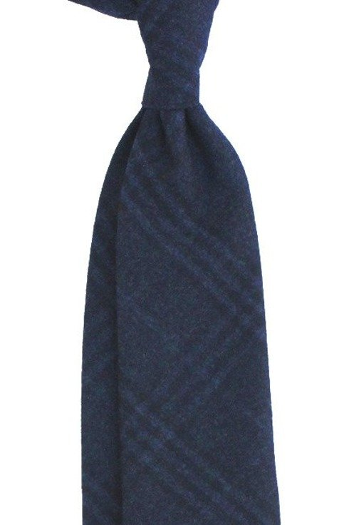 NAVY UNTIPPED CASHMERE TIE