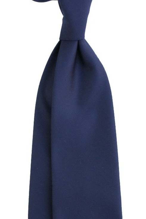 Navy blue UNTIPPED WOOLEN TIE