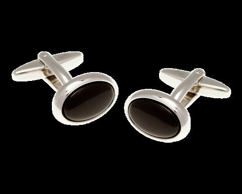 Oval Onyx Cufflinks