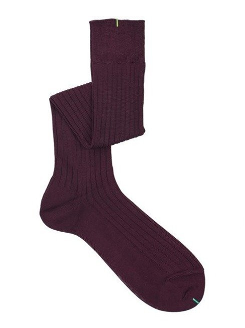 Over the calf socks burgundy
