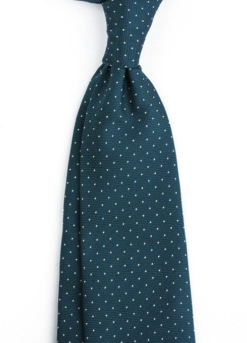 SIX FOLD SEA BLUE POLKA DOTS TIE