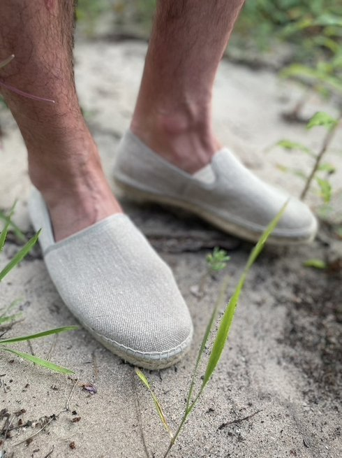 Sand Linen Espadrilles