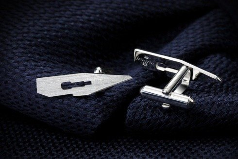 Silver Cuff Links Scalpel