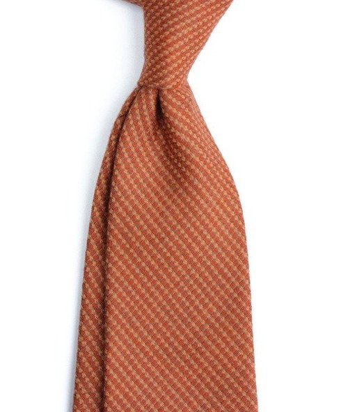 UNTIPPED CASHMERE ORANGE TIE