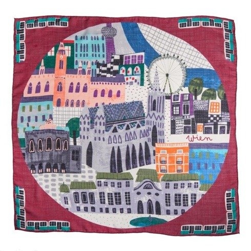 """WIEN"" Wool and Silk scarf 100 cm"