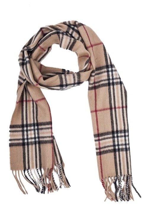 beige cashmere & wool classic scarf