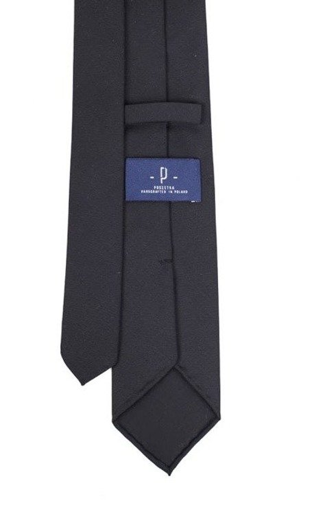 black woolen untipped tie