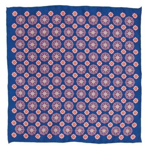 blue classic pocket square