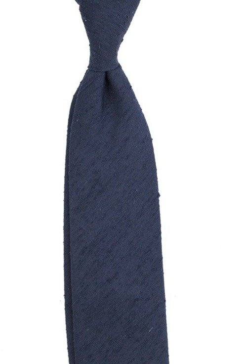 blue navy UNTIPPED shantung tie