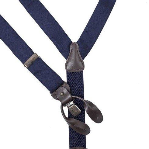 blue navy silk BRACES