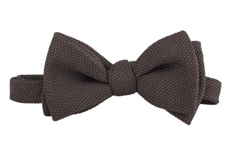 brown grenadine bow tie