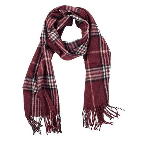 burgundy cashmere & wool classic scarf