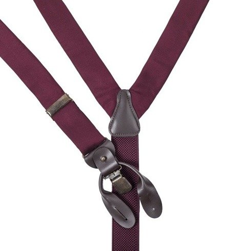 burgundy silk BRACES