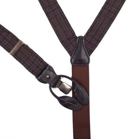 cashmere BRACES 3,5 CM CLIPS & BUTTONS