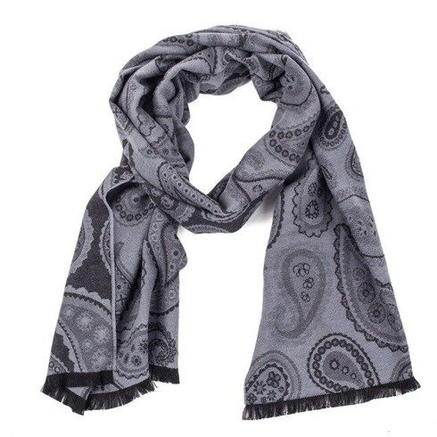 double- faced cotton scarf shades of grey