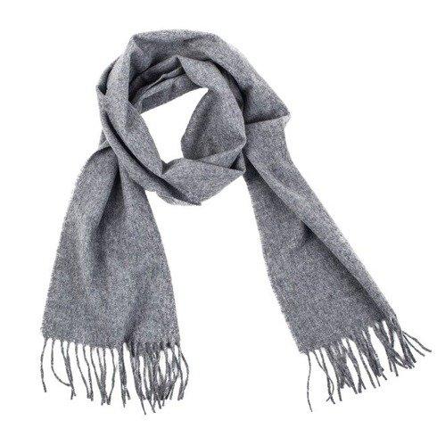 grey woolen classic scarf