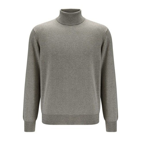 light merino wool turtleneck beige melange