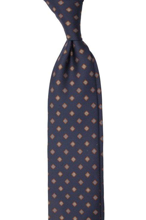 navy Macclesfield tie