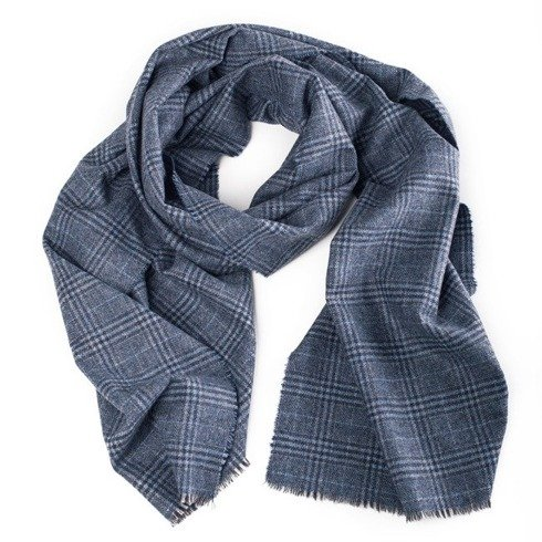 pigeon blue cashmere scarf
