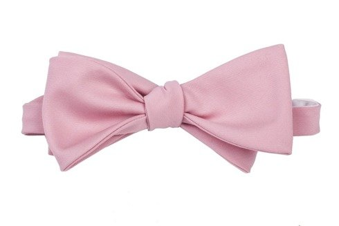 pink woolen bowtie