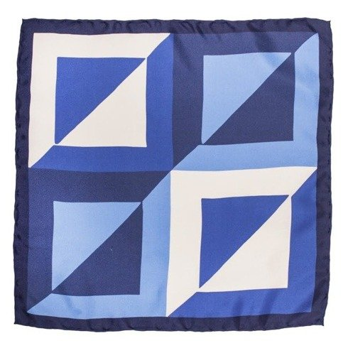 pocket square blue squares