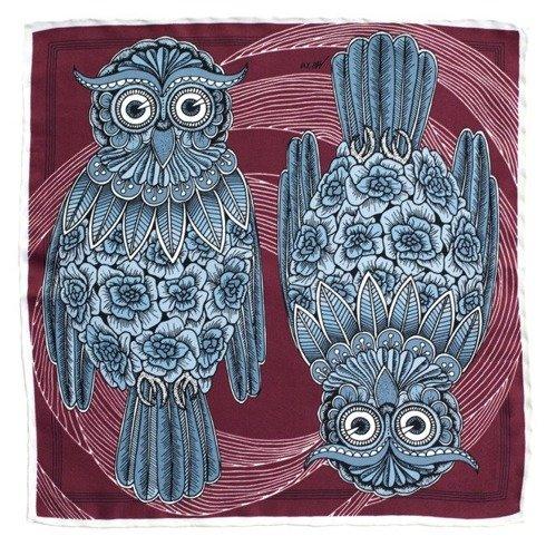 pocket square owl