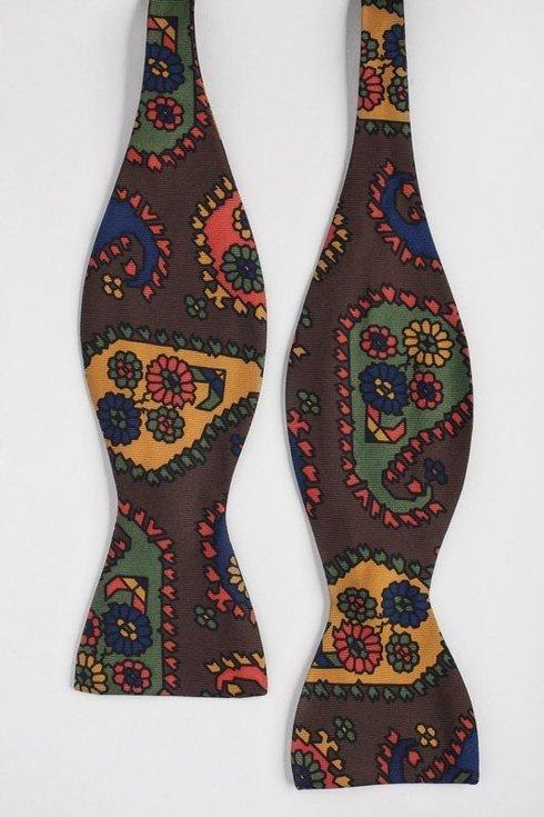 printed Macclesfield silk bow tie