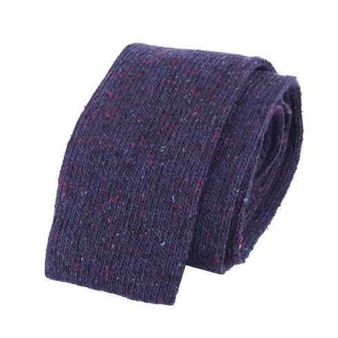 purple knit tie