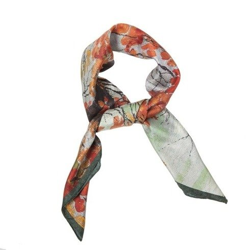 "silk 45cm scarf ""Autumn Leaves"" Edward Okuń"