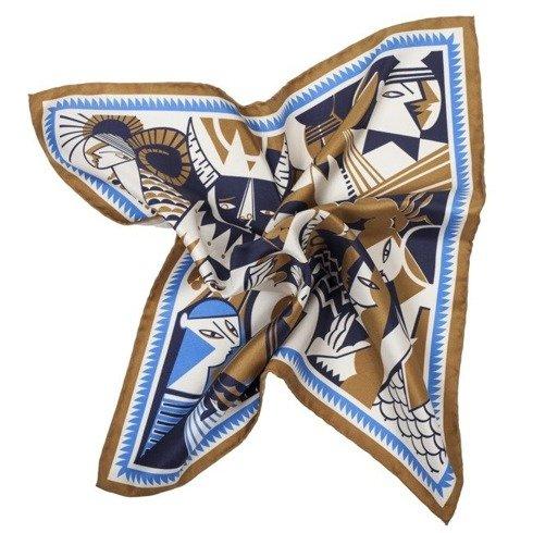 silk 45cm scarf ZODIAC