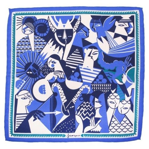 silk pocket square zodiac Scorpio
