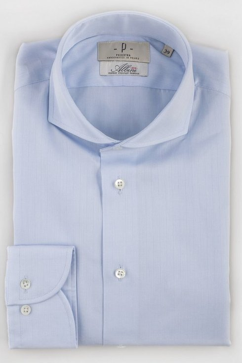 sky blue delicate stripes formal shirt with spread collar
