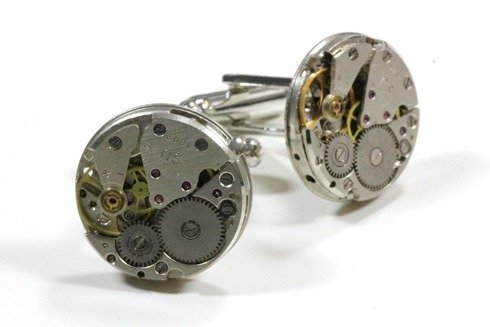 steampunk cufflinks