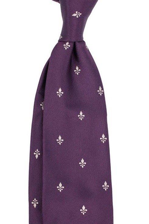violet SIX FOLD TIE with Scout Emblem